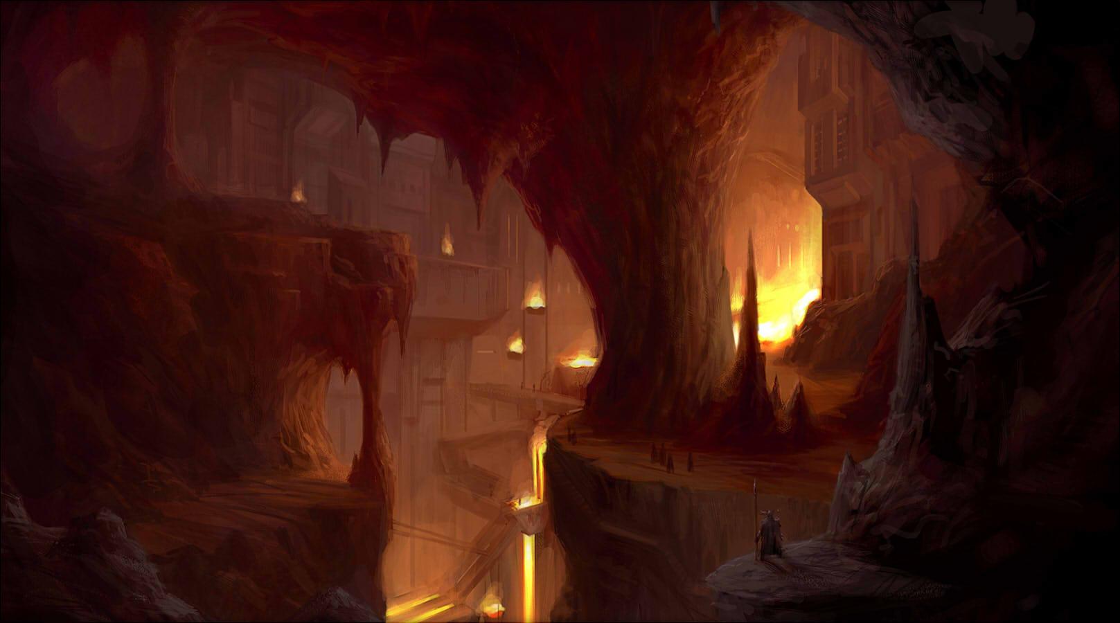 Fantasy Art Dwarven City